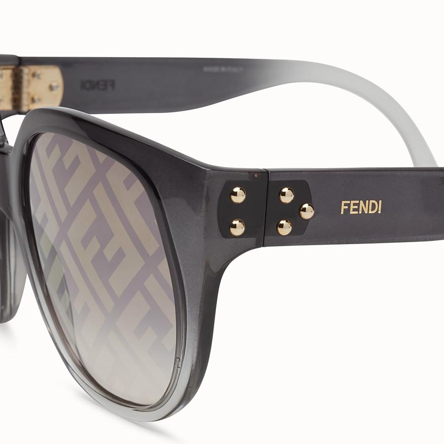 FENDI FENDI DAWN - Occhiali da sole in iniettato sfumato con logo FF - vista 3 dettaglio