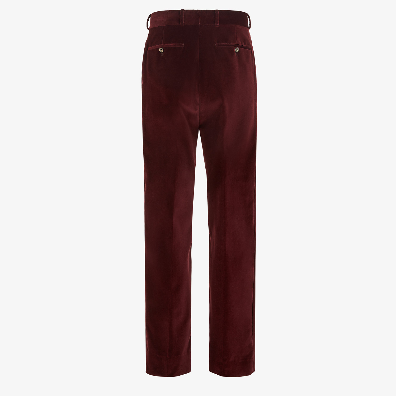 FENDI TROUSERS - Burgundy velvet trousers - view 2 detail
