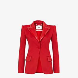 FENDI JACKET - Red piqué blazer - view 1 thumbnail