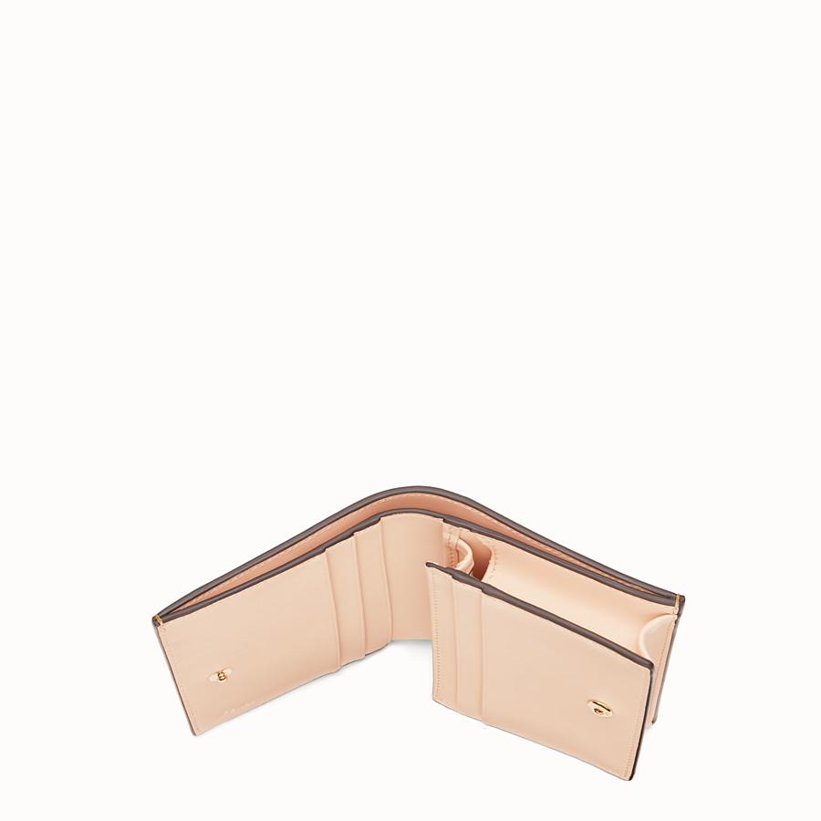 FENDI SMALL WALLET - Multicolour leather wallet - view 4 detail