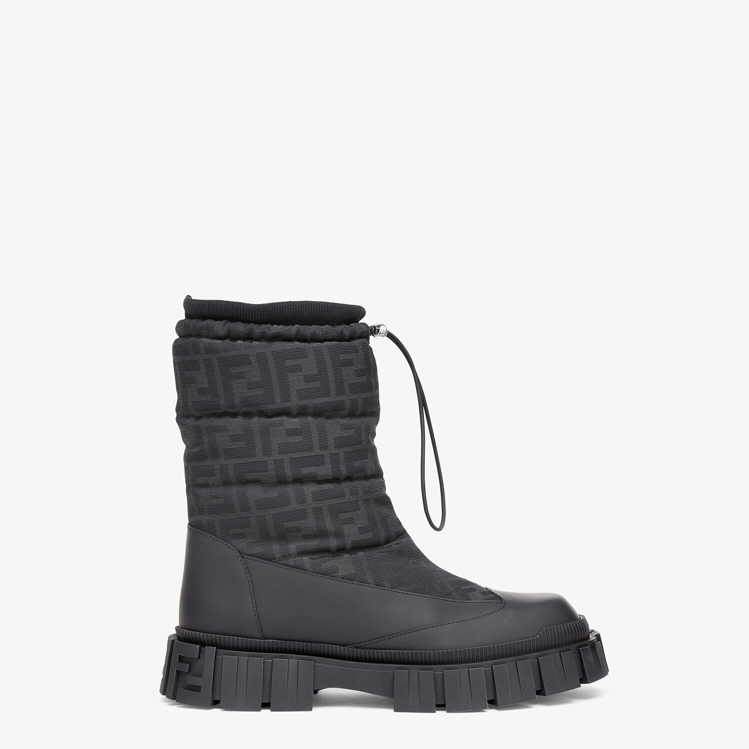 FENDI ANKLE BOOTS - Black leather boots - view 1 detail