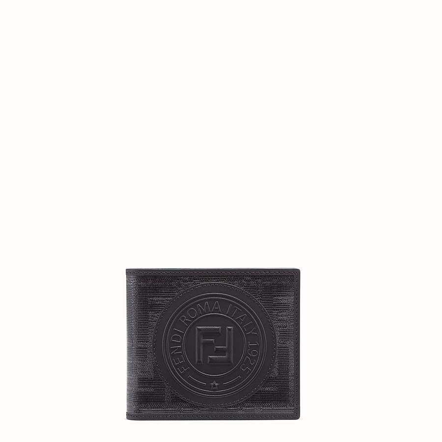 FENDI WALLET - Black fabric bi-fold - view 1 detail