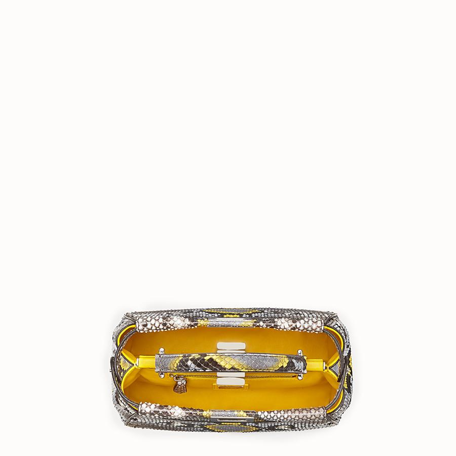 FENDI PEEKABOO MINI - multicolour python handbag - view 4 detail