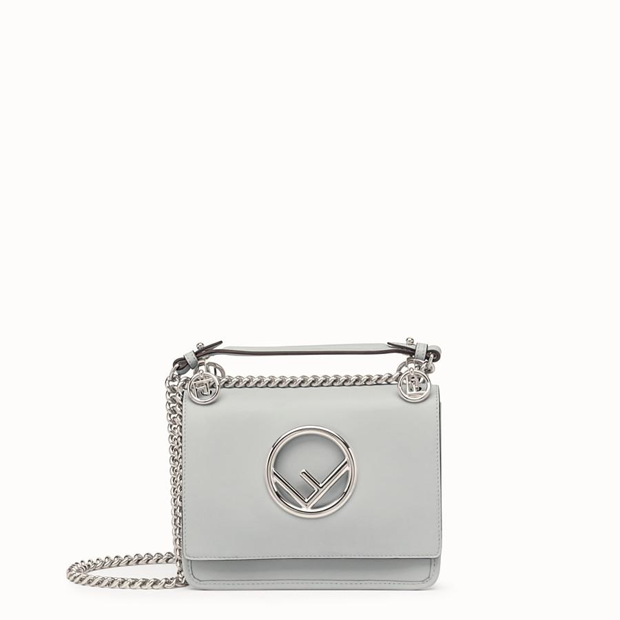 Grey leather mini-bag - KAN I F SMALL  93229e5338445