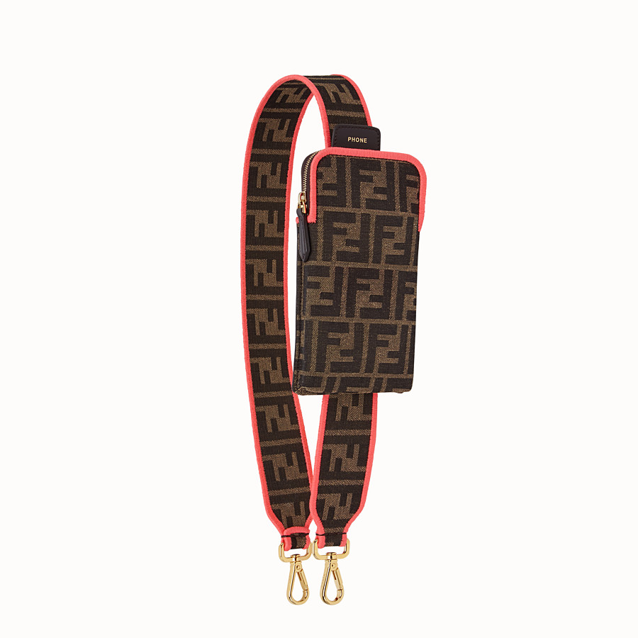 FENDI STRAP YOU - Fendi Roma Amor fabric shoulder strap - view 1 detail