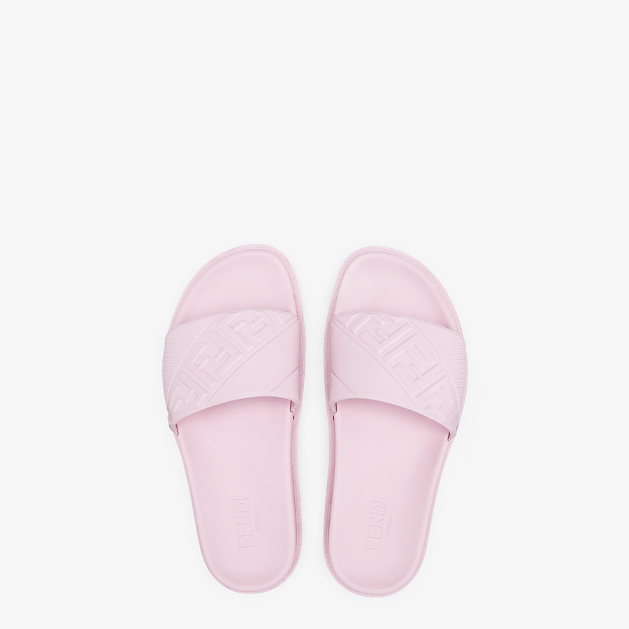 FENDI SLIDES - Pink rubber slides - view 4 detail