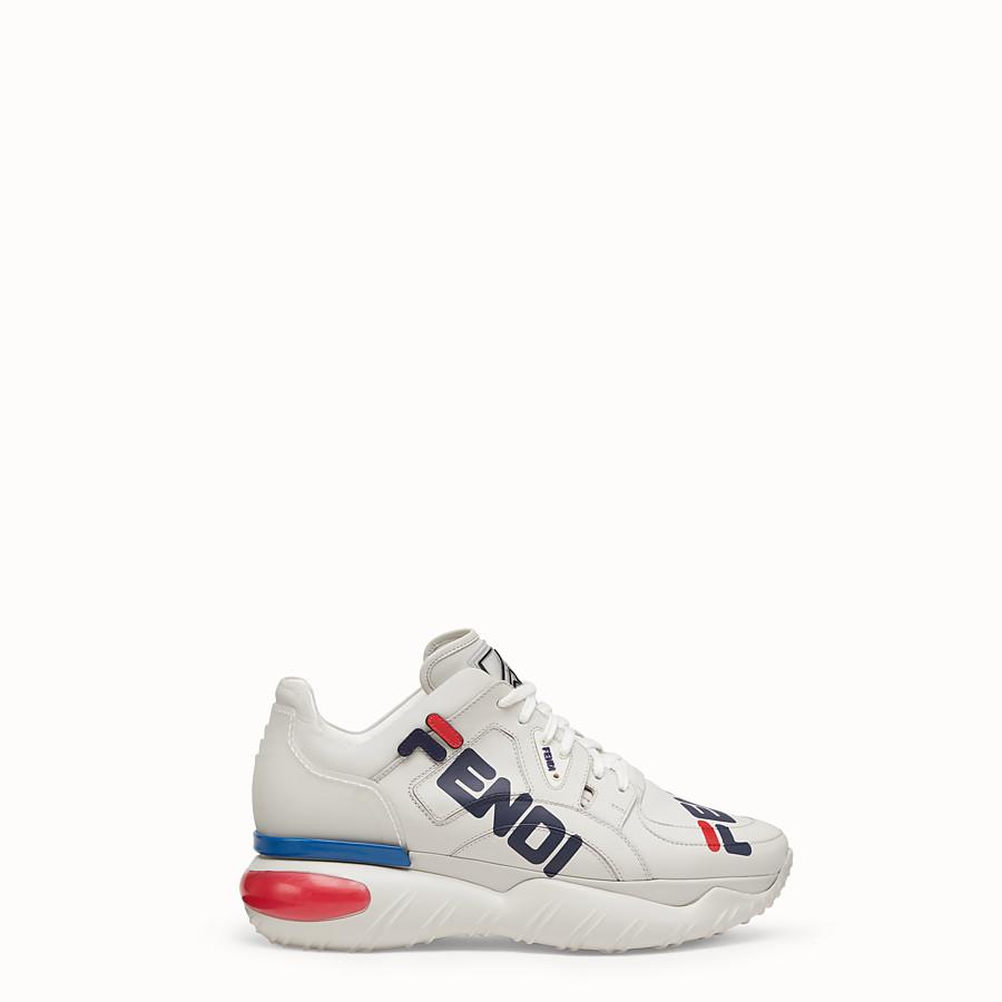 FENDI SNEAKER - Sneaker in pelle bianca - vista 1 dettaglio