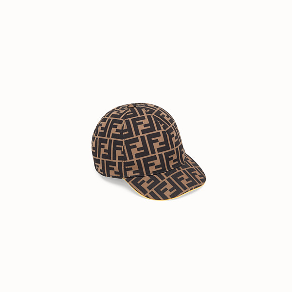 FENDI BASEBALL CAP - Tobacco canvas baseball cap - view 1 small thumbnail