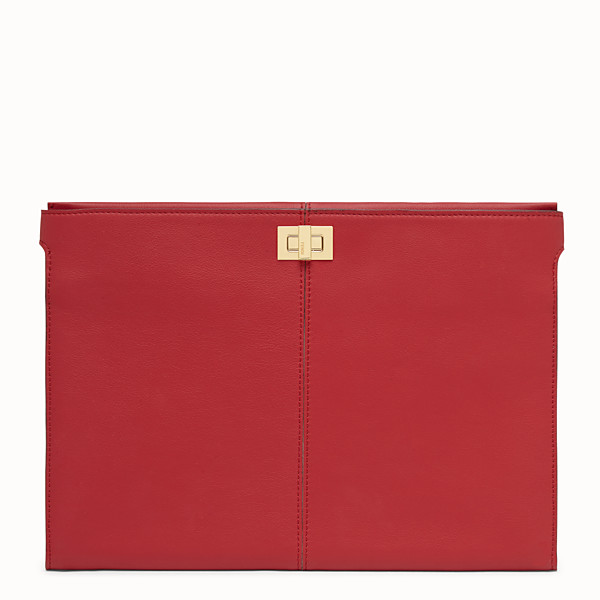 FENDI CLUTCH WALLET - Red leather clutch - view 1 small thumbnail
