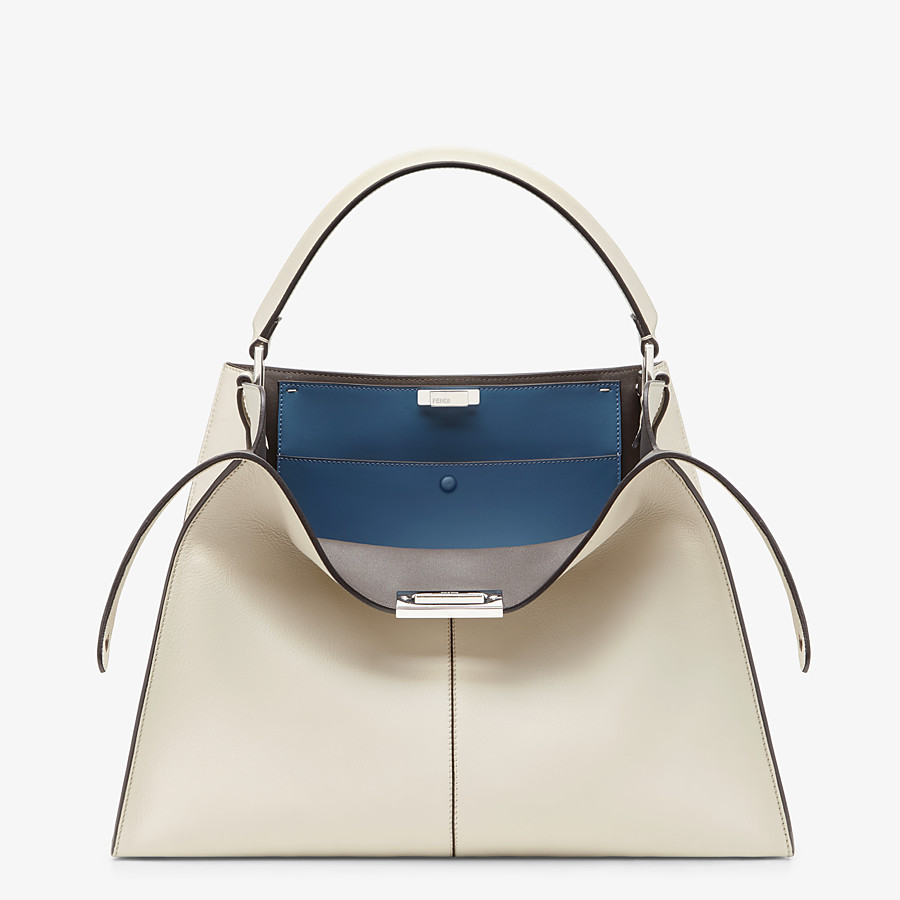 FENDI PEEKABOO X-LITE LARGE - White leather bag - view 1 detail