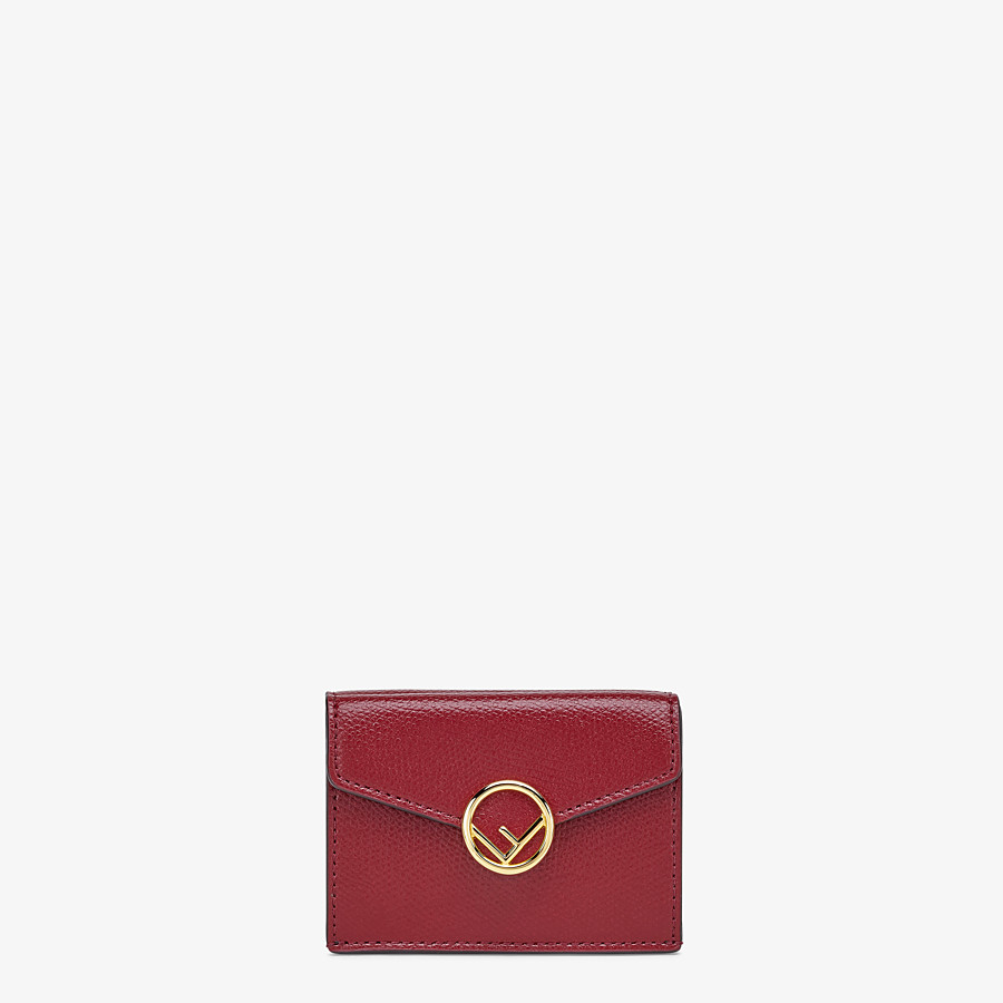 FENDI MICRO TRIFOLD - Burgundy leather wallet - view 1 detail