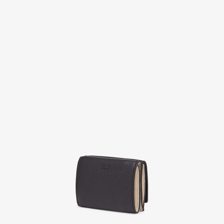 FENDI MICRO TRIFOLD - Black leather wallet - view 2 detail