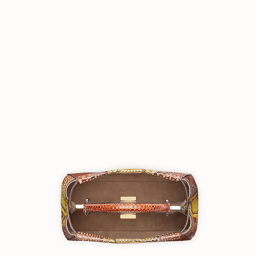 FENDI PEEKABOO ICONIC MINI - Brown python handbag - view 4 detail