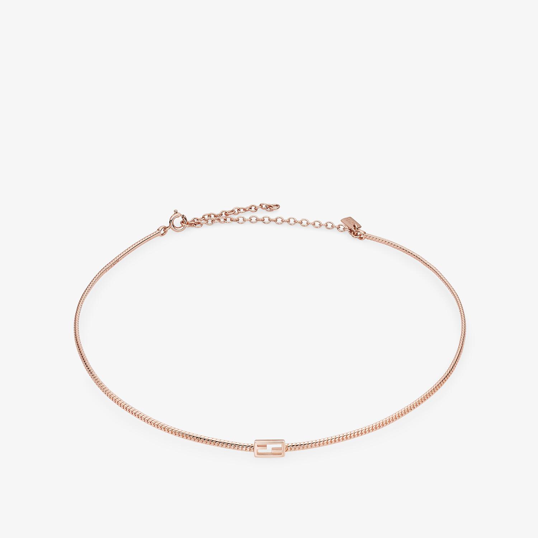 FENDI BAGUETTE NECKLACE - Rose-gold necklace - view 1 detail