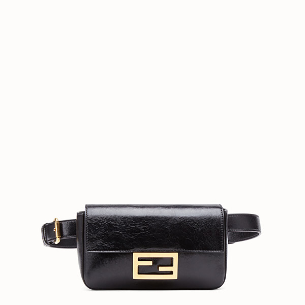 FENDI BELT BAG - Black leather minibag - view 1 small thumbnail