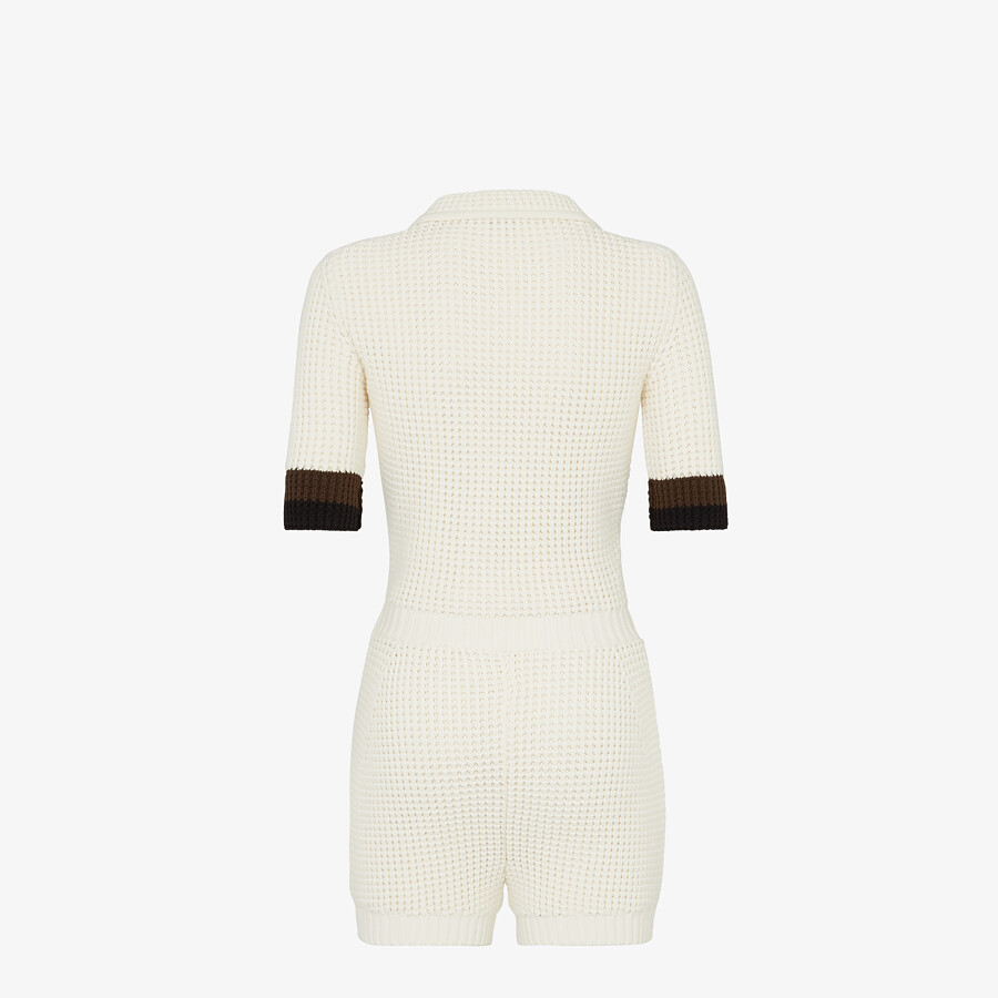 FENDI JUMPSUIT - White cotton jumpsuit - view 2 detail