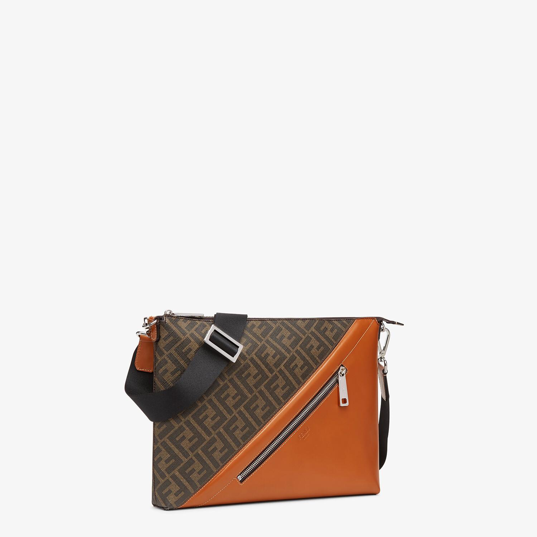 FENDI MESSENGER - Brown fabric bag - view 2 detail