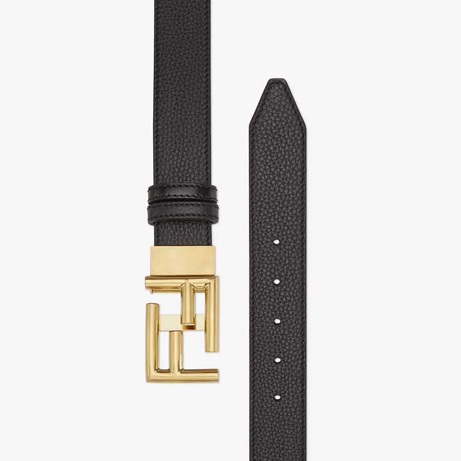 FENDI BELT - in Roman leather and black leather - view 2 detail