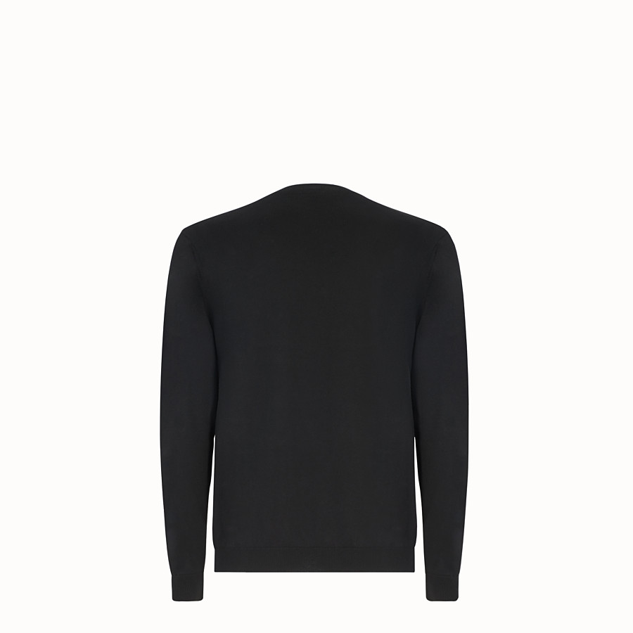 FENDI PULLOVER - Black cotton jumper - view 2 detail