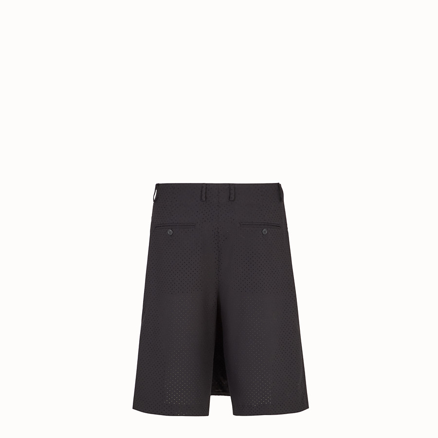 FENDI TROUSERS - Black wool bermudas - view 2 detail
