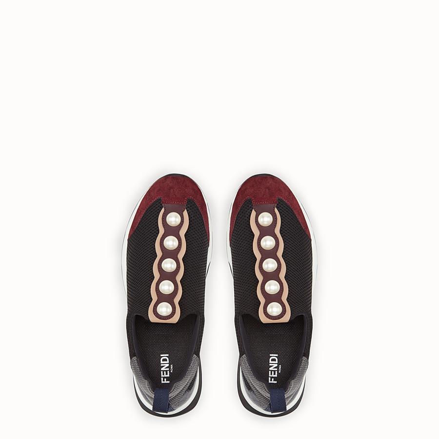 FENDI 運動鞋 - 運動鞋以黑色科技網眼布製作 - view 4 detail