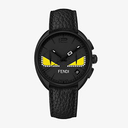 FENDI MOMENTO FENDI BUGS - Chronograph watch with diamonds and strap - view 1 thumbnail
