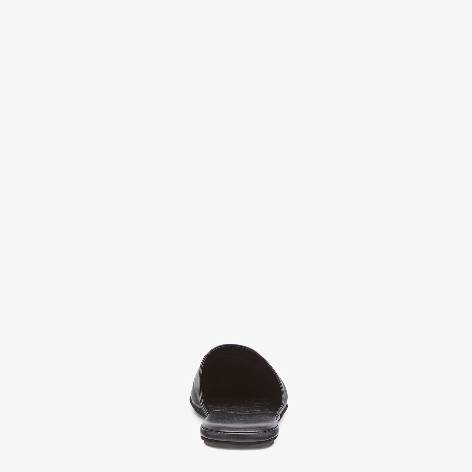 FENDI SLIPPERS - Black nappa leather mules - view 3 detail