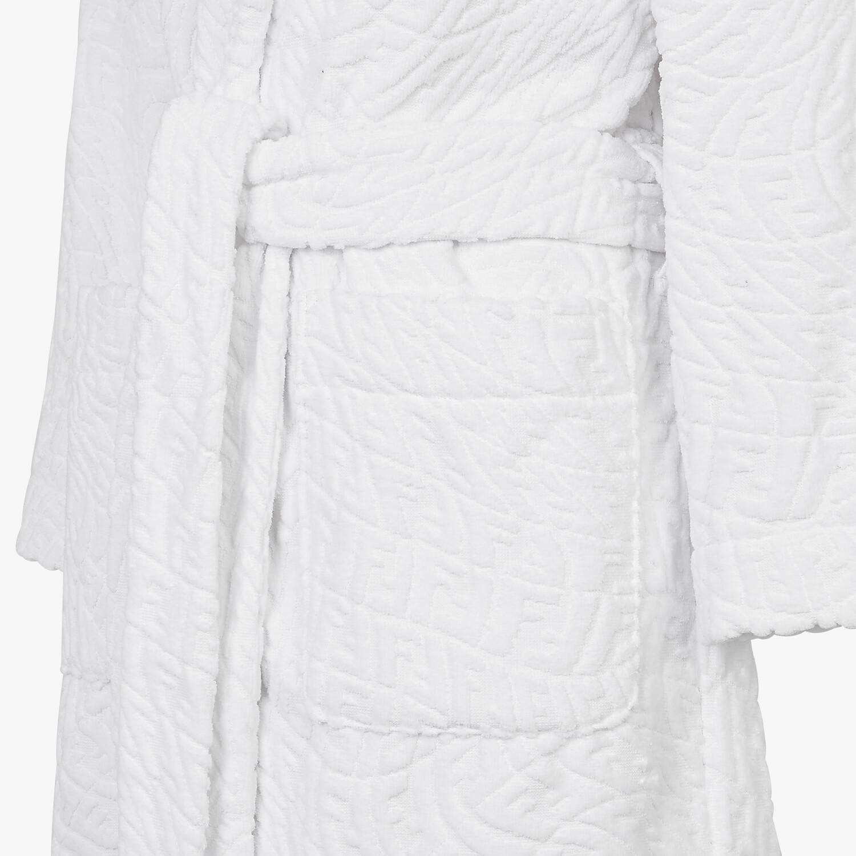 FENDI BATHROBE - White cotton bathrobe - view 3 detail
