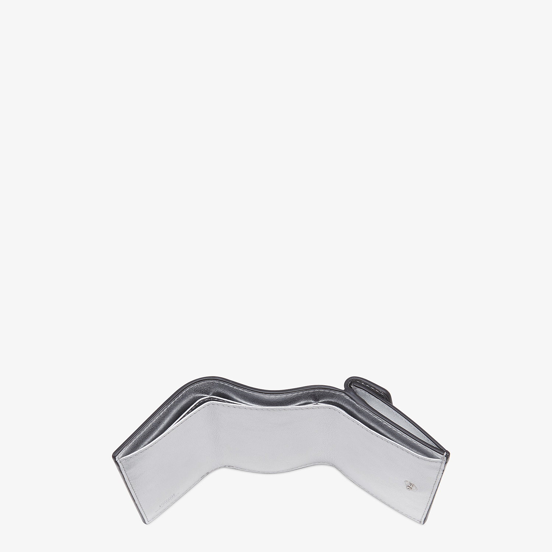 FENDI MICRO TRIFOLD - Silver leather wallet - view 4 detail
