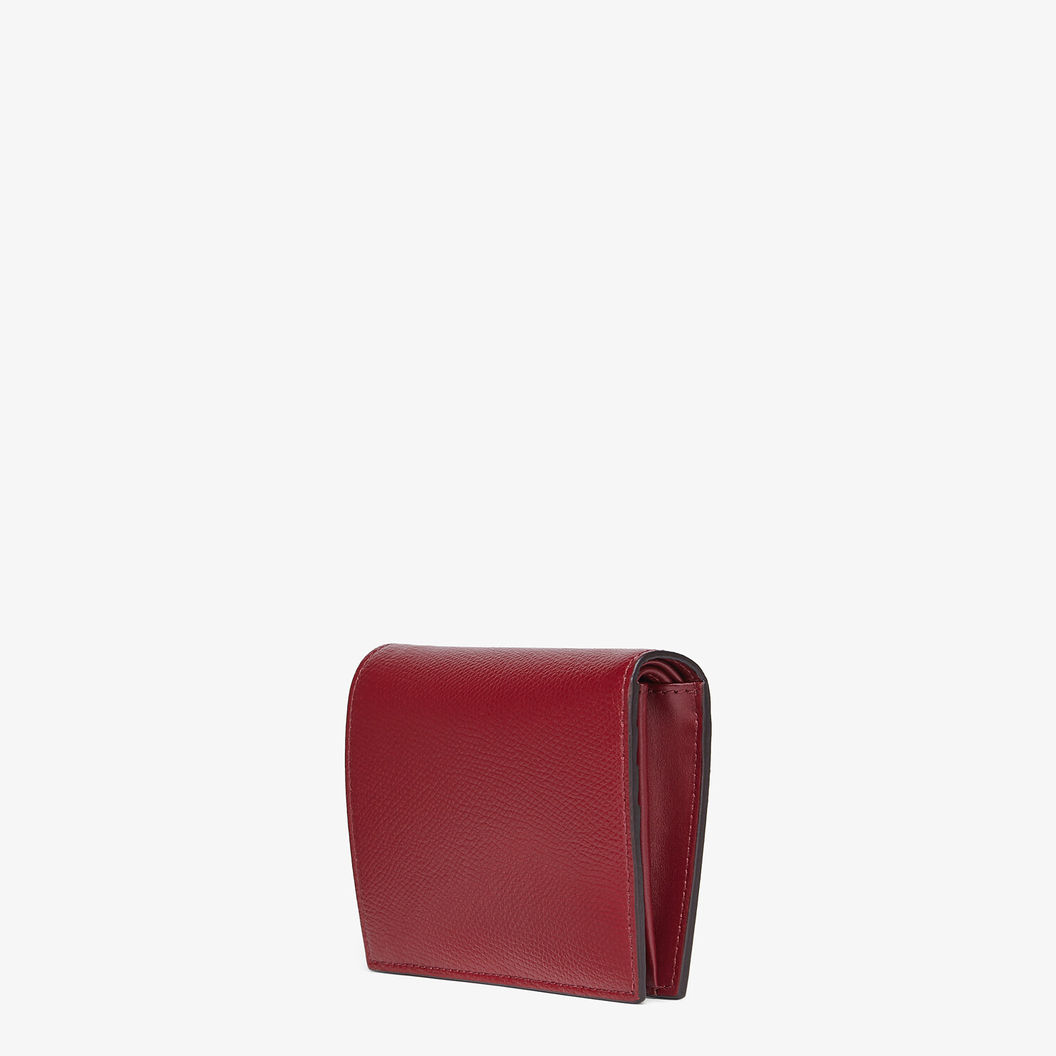FENDI BIFOLD - Burgundy leather compact wallet - view 2 detail
