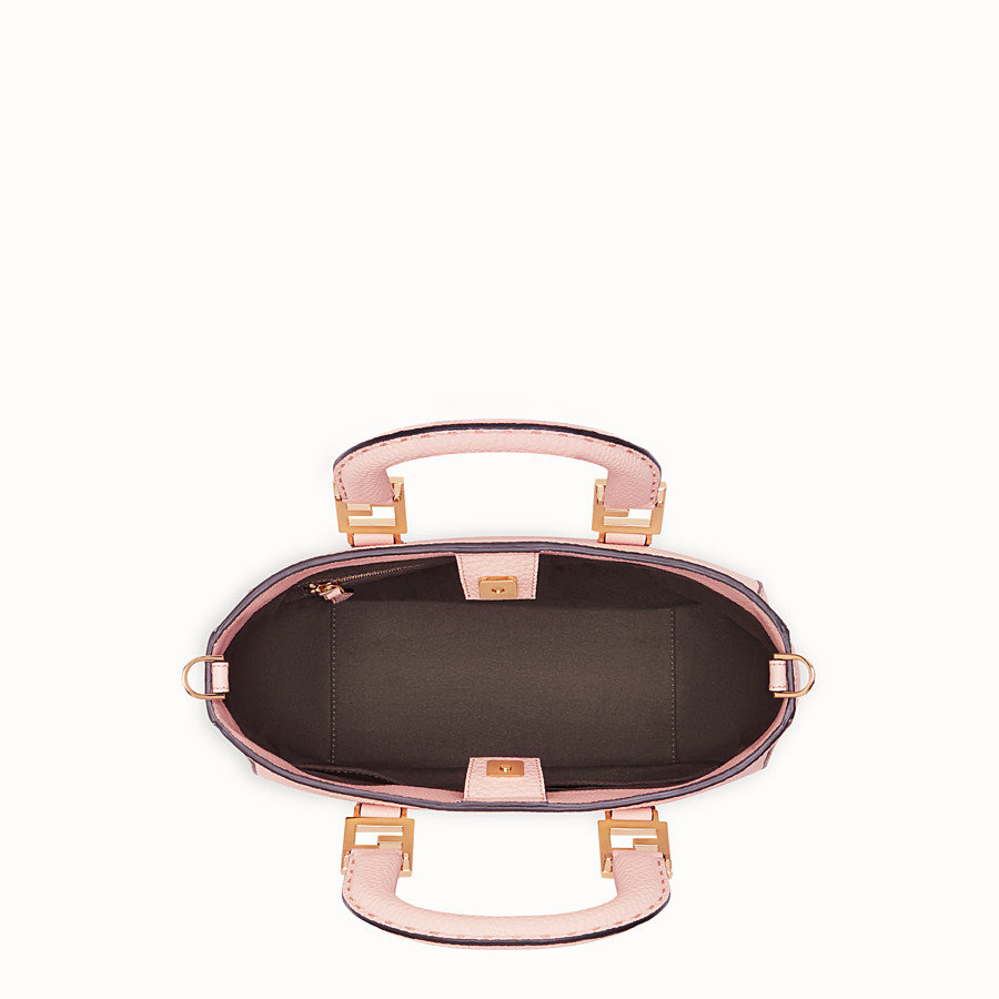 FENDI FF TOTE SMALL - Pink leather bag - view 5 detail