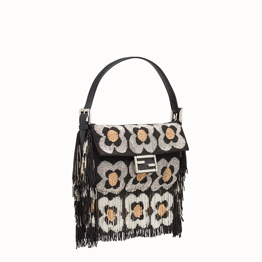 FENDI BAGUETTE - Shoulder bag with beads and fringing - view 2 detail
