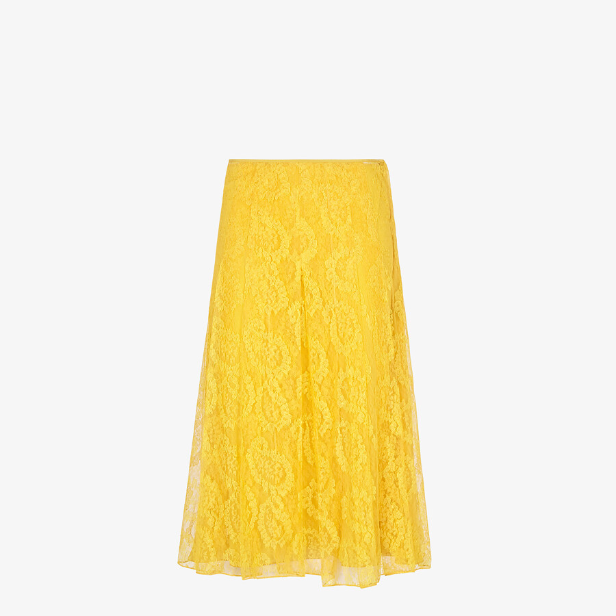 FENDI SKIRT - Yellow lace skirt - view 1 detail