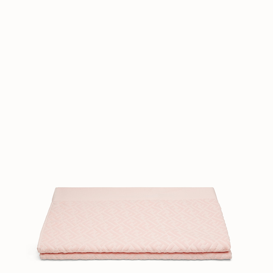 FENDI BEACH TOWEL - Pink cotton beach towel - view 2 detail