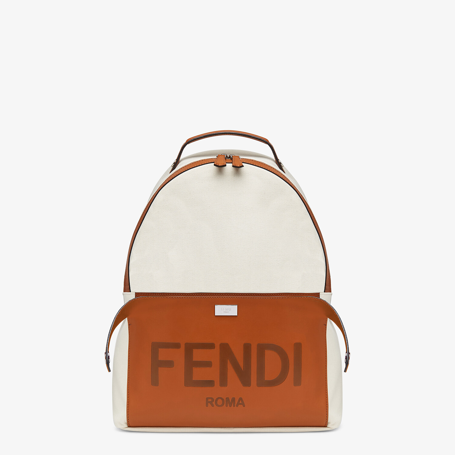 FENDI ESSENTIAL BACKPACK - Undyed canvas backpack - view 1 detail