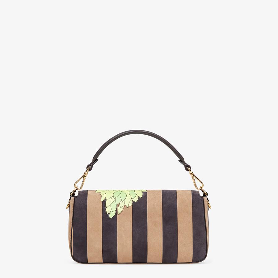 FENDI BAGUETTE - Brown nubuck leather bag - view 4 detail