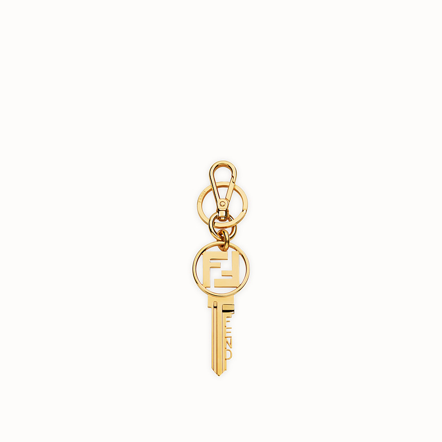 FENDI KEY RING - Gold metal key ring - view 1 detail