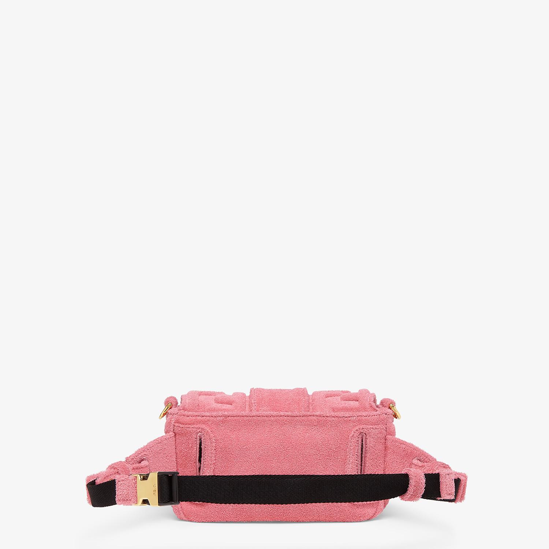 FENDI BAGUETTE - Pink terrycloth bag - view 4 detail