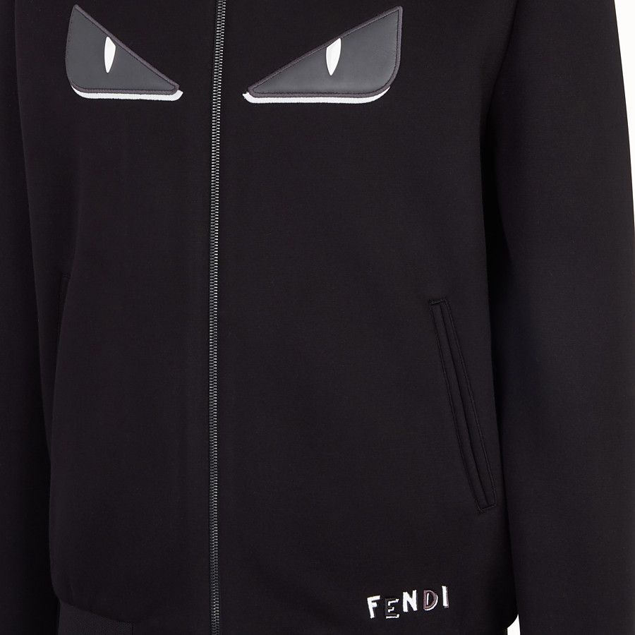 FENDI BOMBER - Black fabric jacket - view 3 detail
