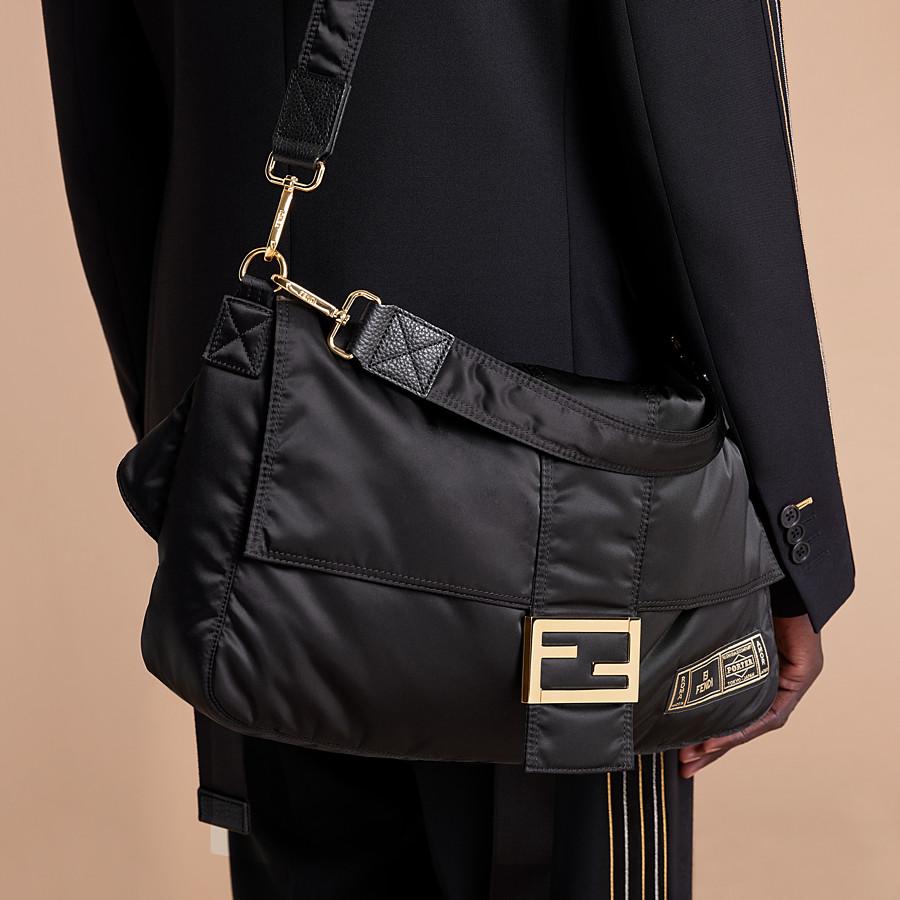 FENDI BAGUETTE FENDI AND PORTER - Black nylon bag - view 7 detail