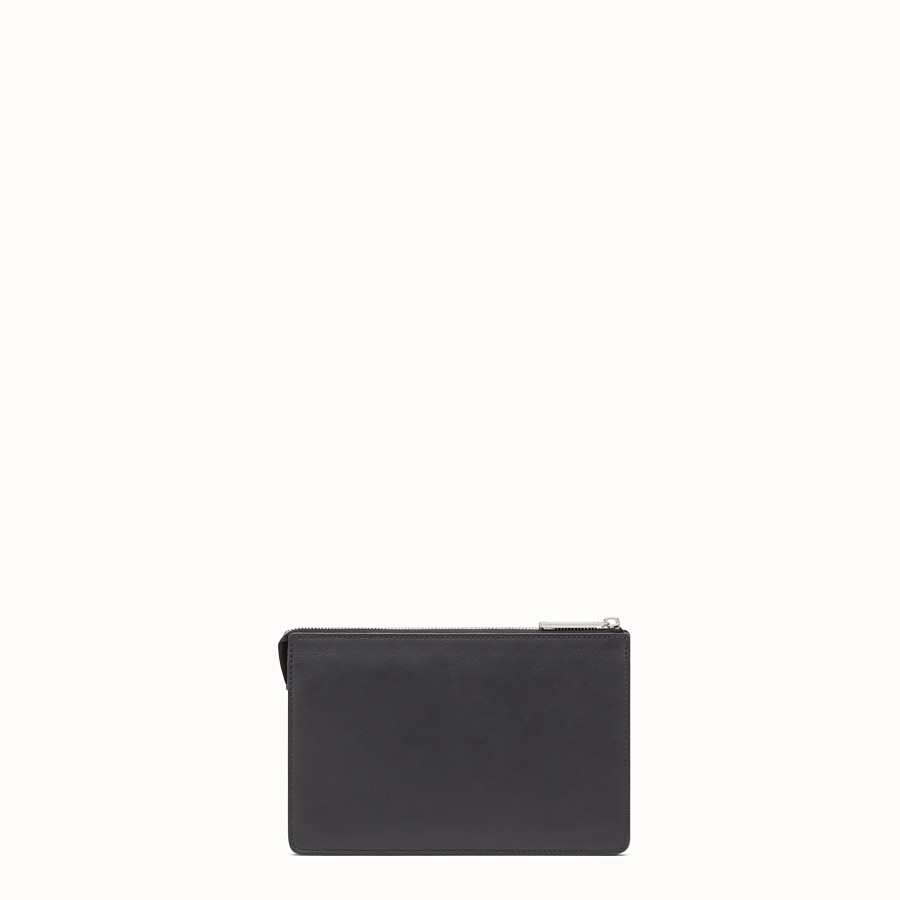 FENDI CLUTCH - Black leather pouch - view 3 detail