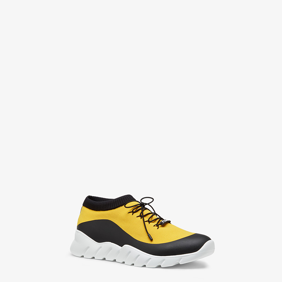 FENDI SNEAKERS - Yellow tech fabric low top - view 2 detail
