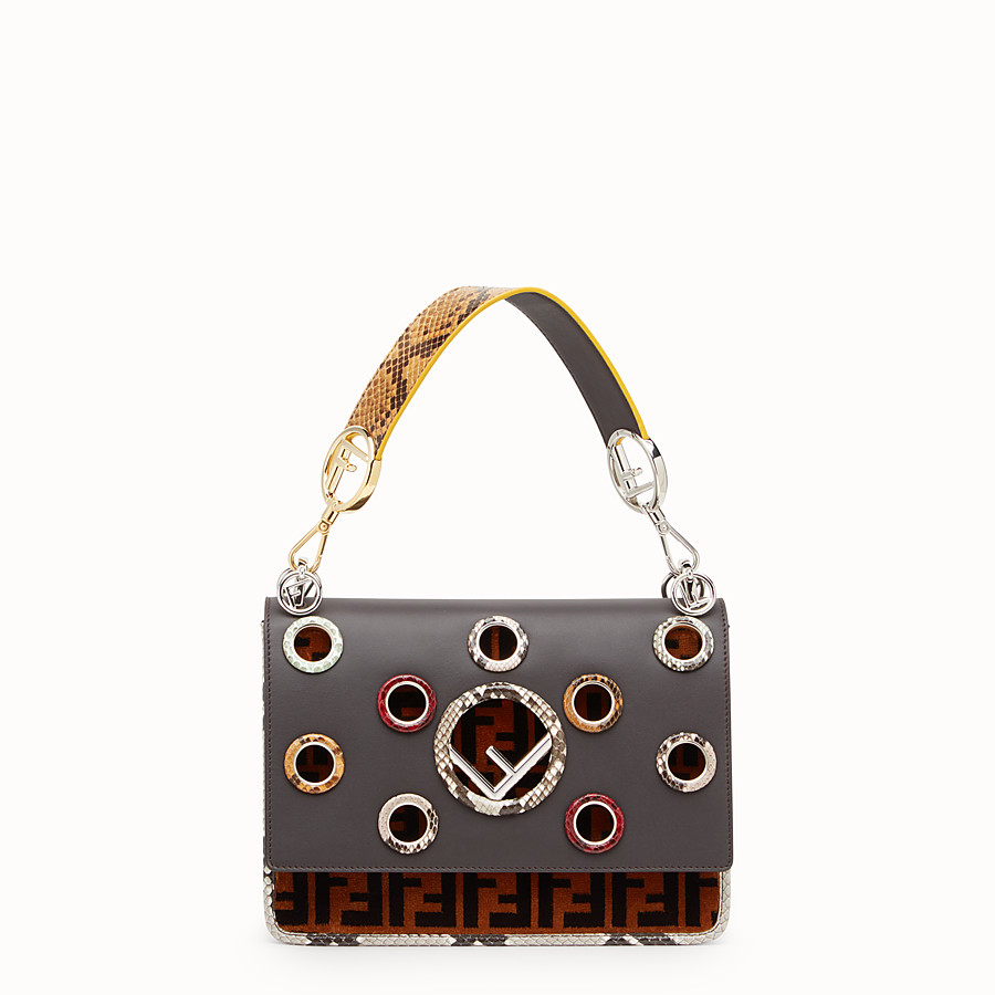FENDI KAN I F - Multicolour bag with exotic details - view 1 detail