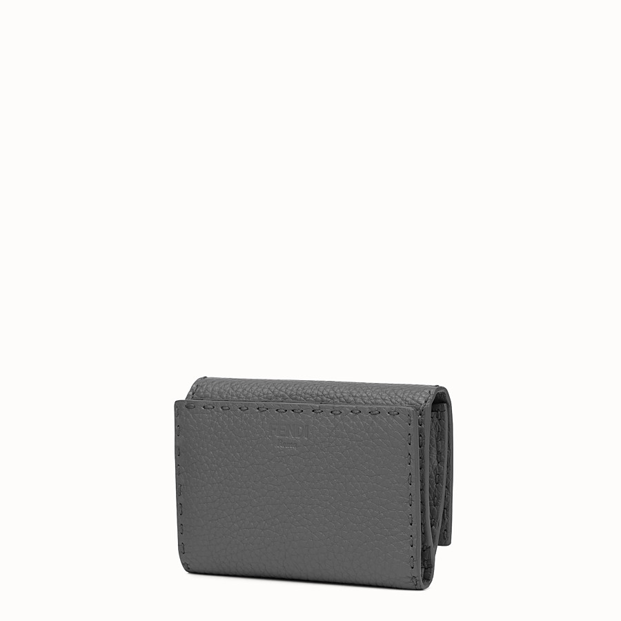 FENDI WALLET - Grey Roman leather wallet - view 2 detail