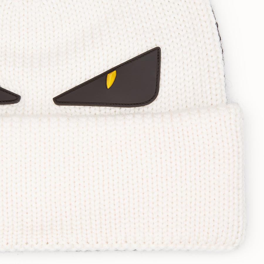 FENDI 帽子 - 拼色羊毛帽 - view 2 detail