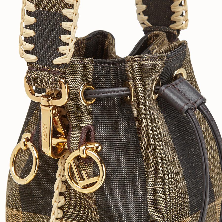 FENDI MON TRESOR - Minibag in tessuto marrone - vista 6 dettaglio