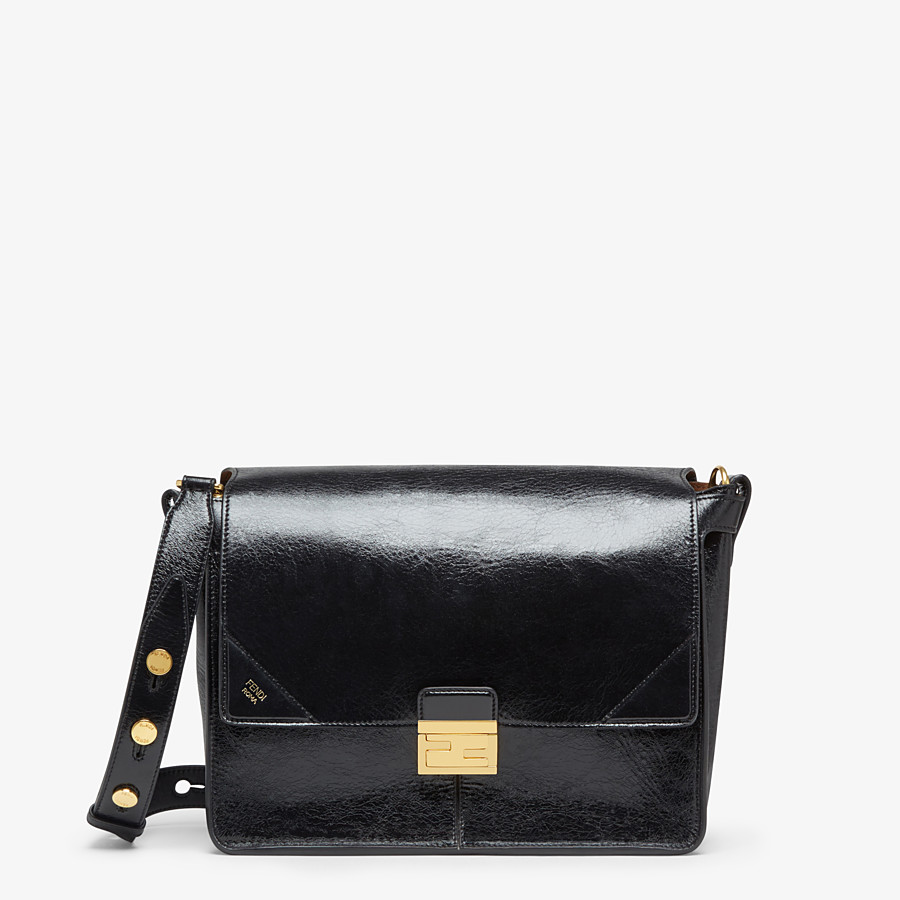 FENDI KAN U LARGE - Black leather bag - view 1 detail