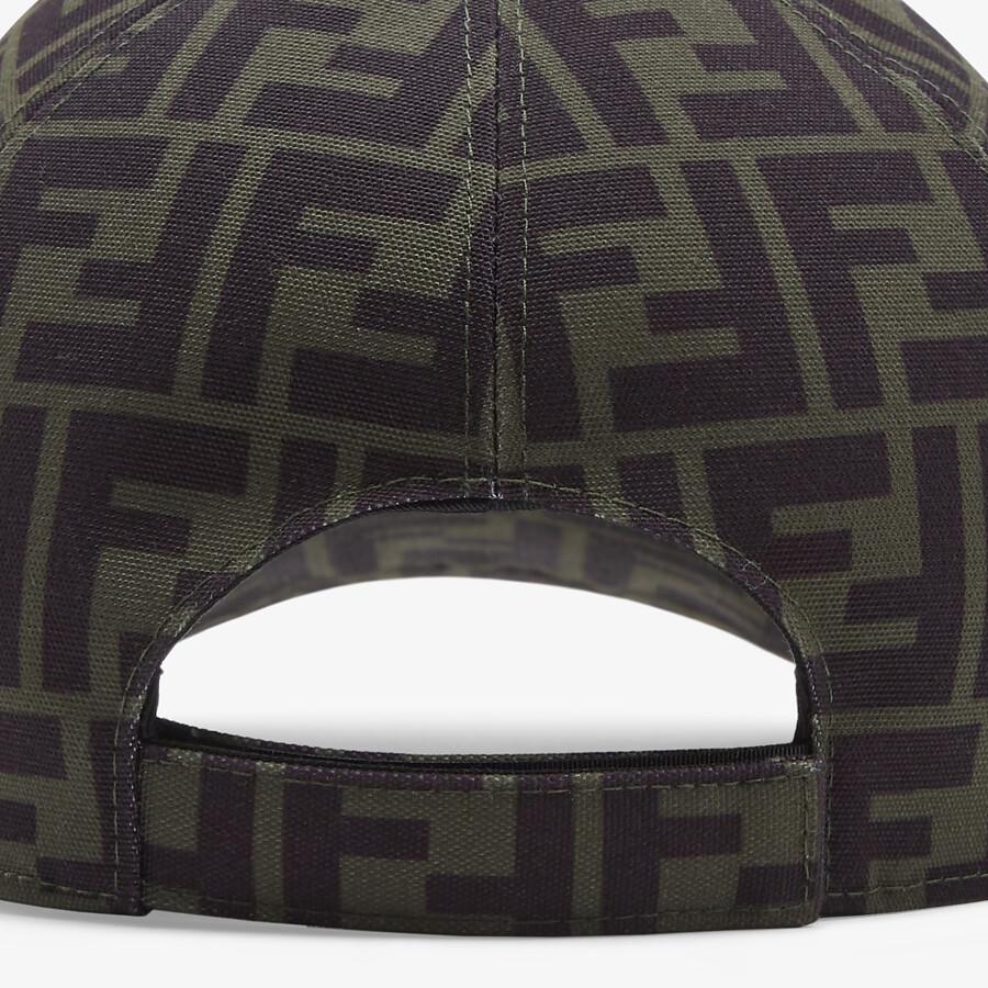 FENDI HAT - Green canvas baseball cap - view 2 detail