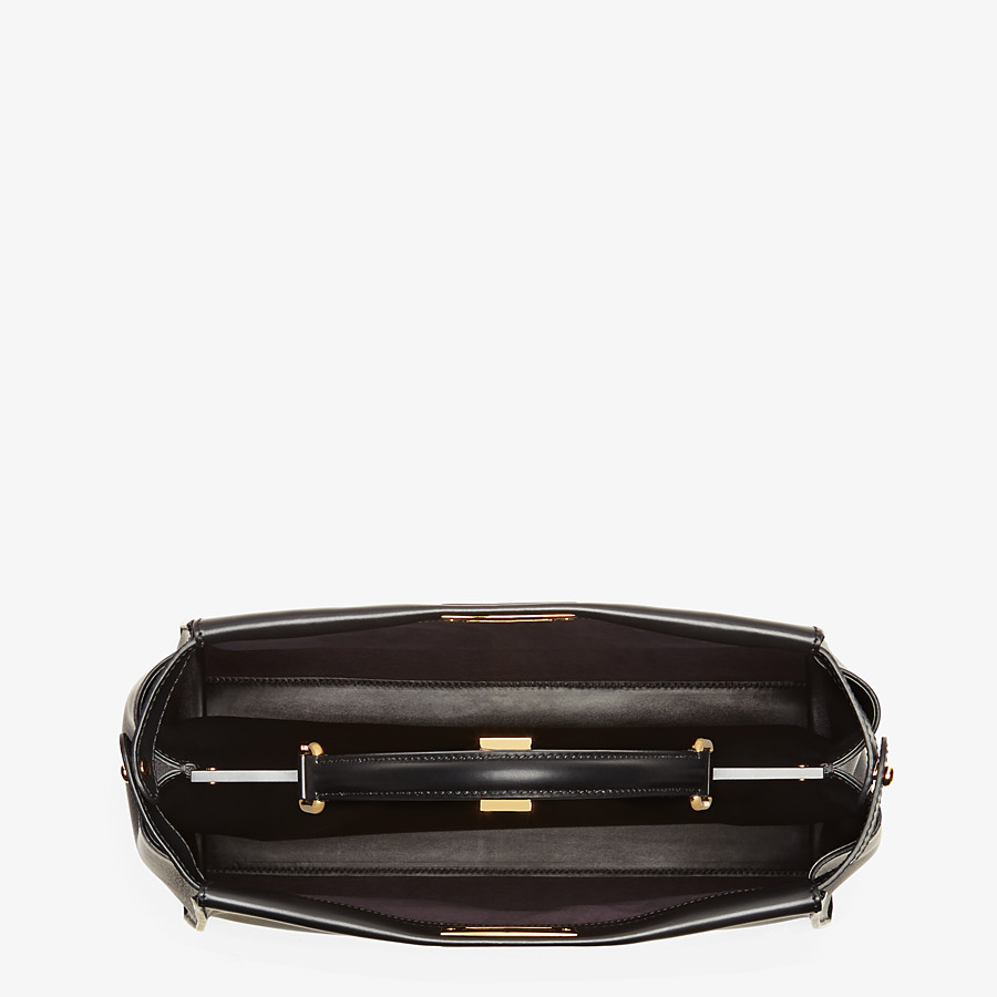FENDI PEEKABOO ICONIC LARGE - Black leather bag - view 4 detail