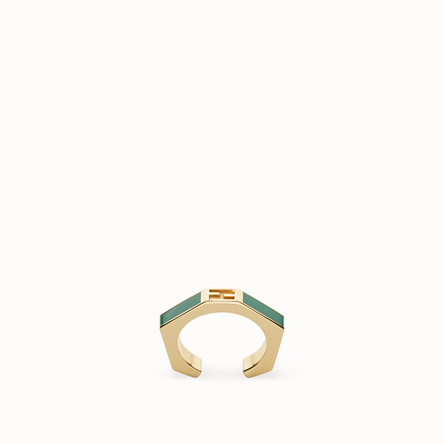 FENDI BAGUETTE RING - Polished green Baguette ring - view 1 detail